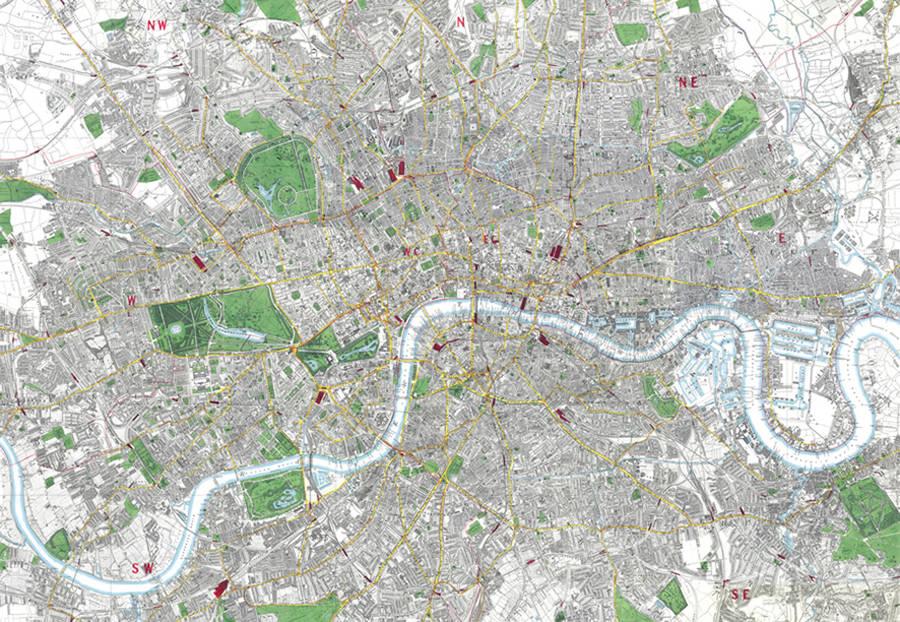 Street Map Wallpaper