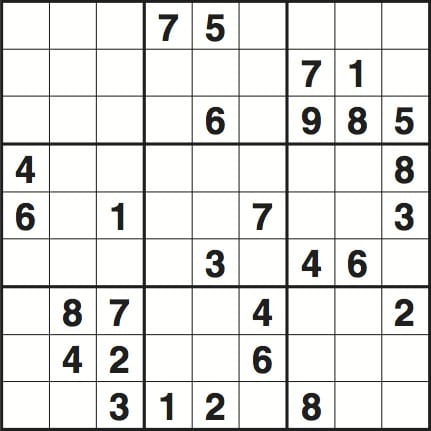 Sudoku 2017 Puzzle