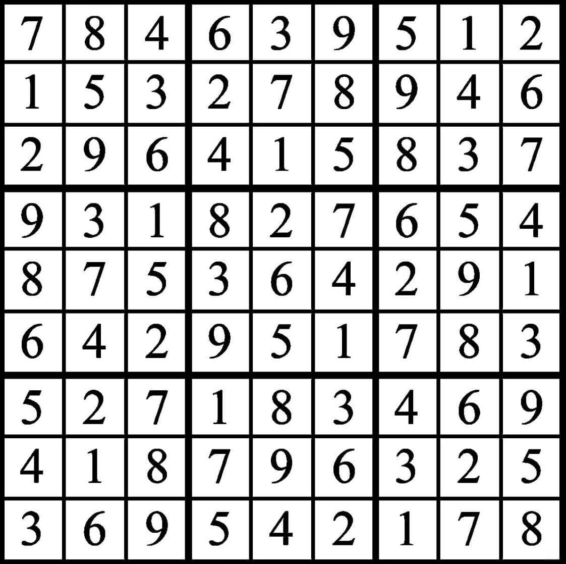 Sudoku 2017 Rules