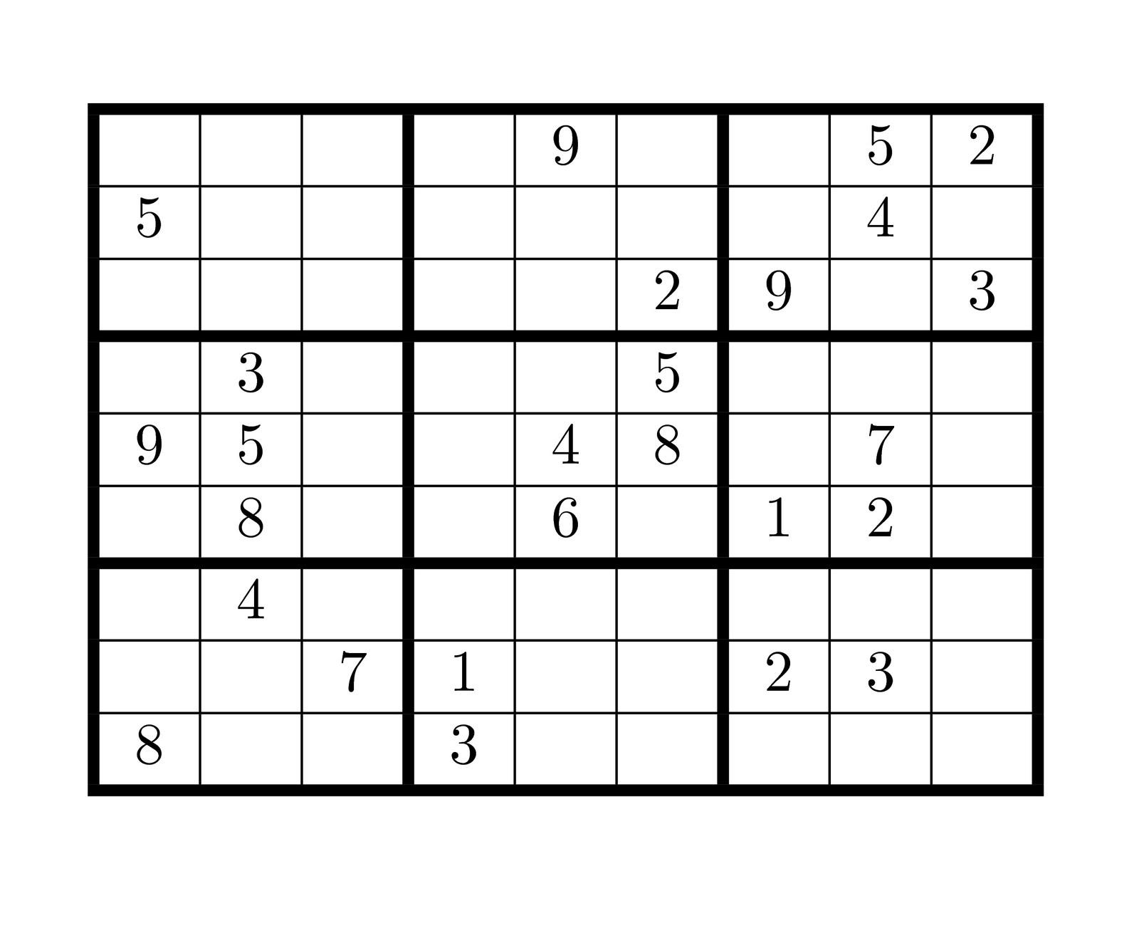 Sudoku Blank Board