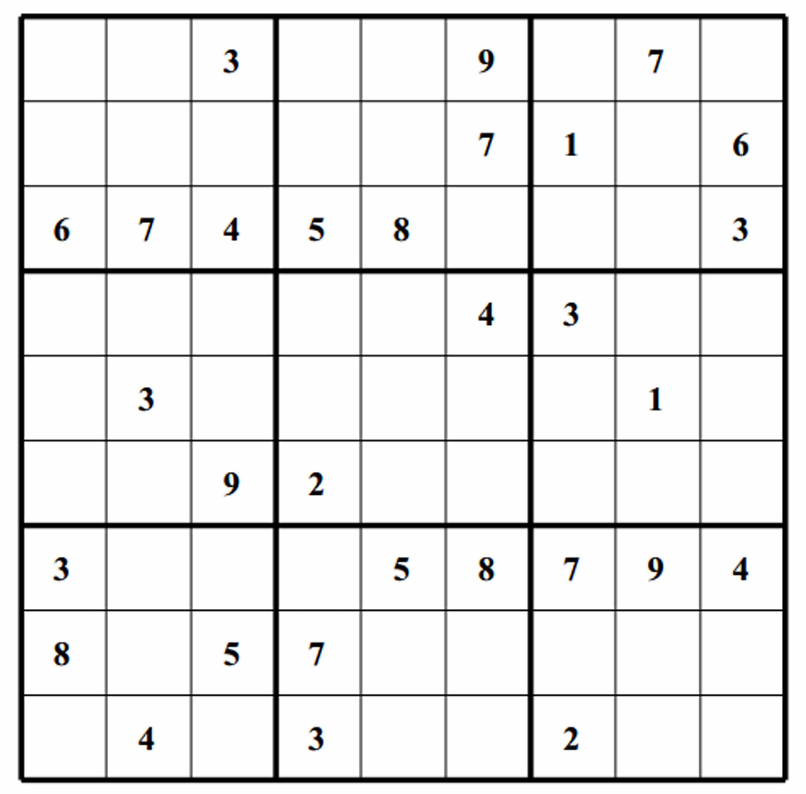 Sudoku Blank Printable