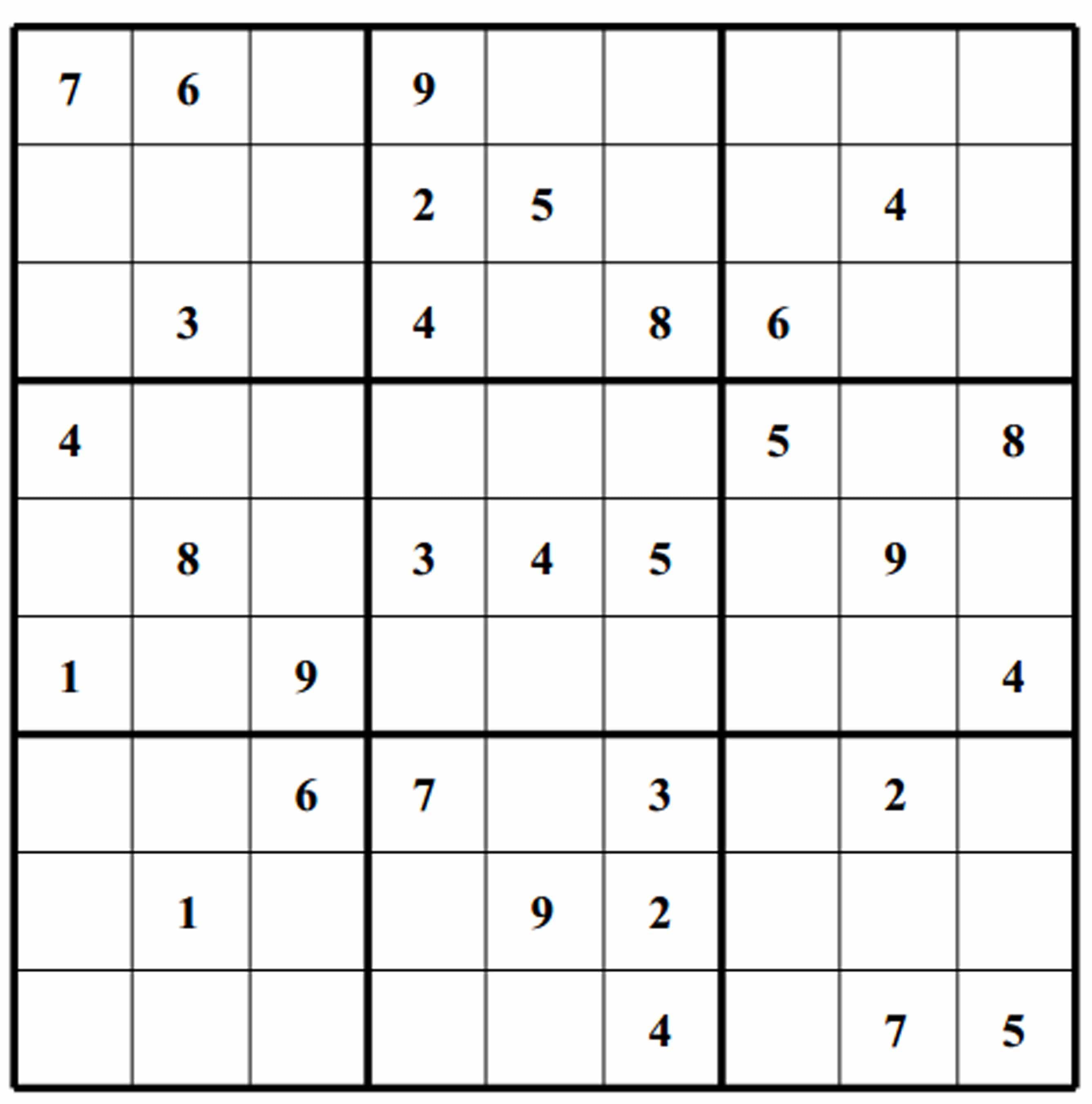 Sudoku Blank Puzzle