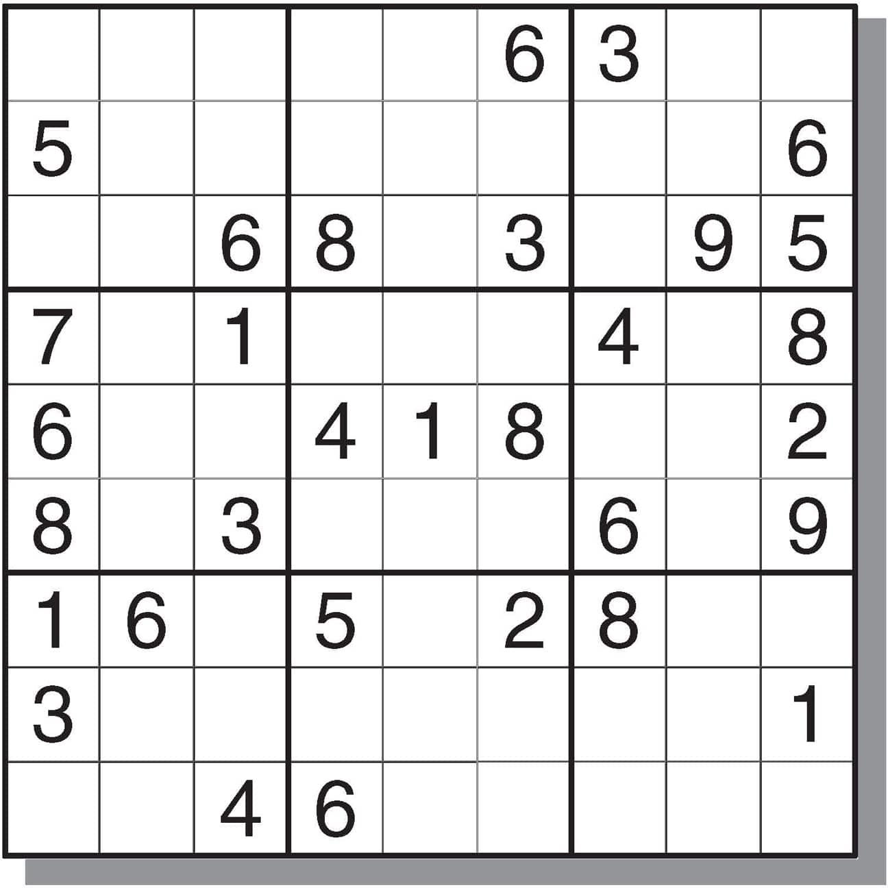 Sudoku Easy Printable Chart