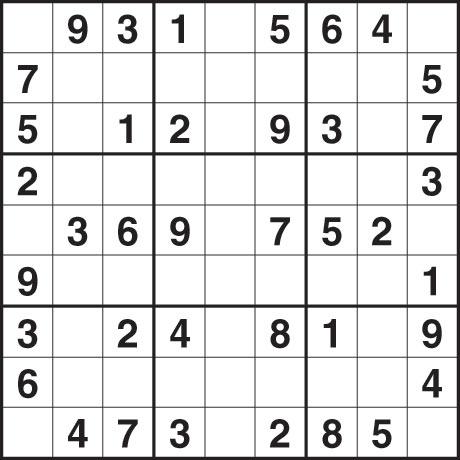Sudoku Easy Printable Image