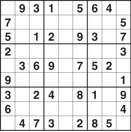 Sudoku Free Chart