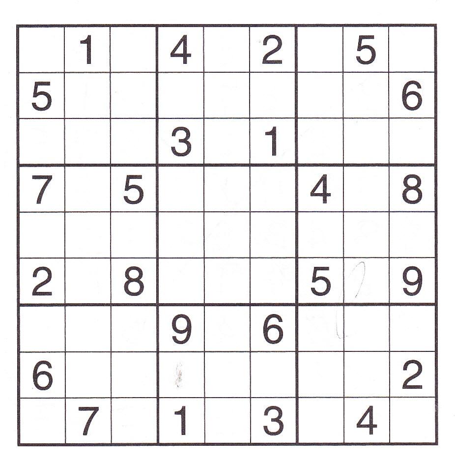 Sudoku Free Game Print