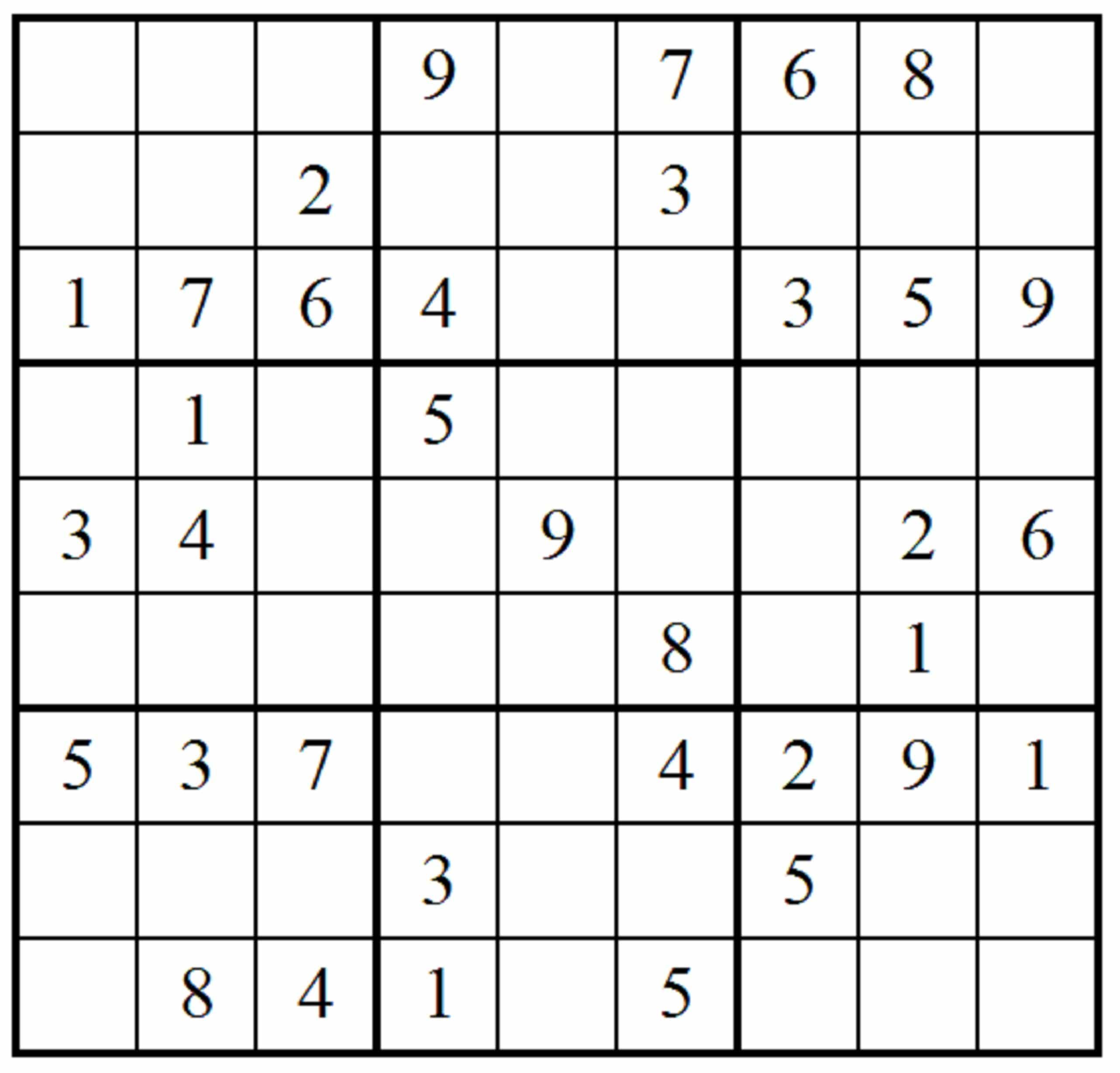 Sudoku Free Print Idea