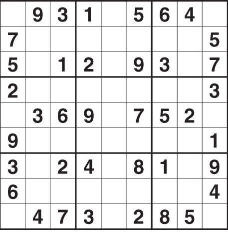 Sudoku Free Print Image