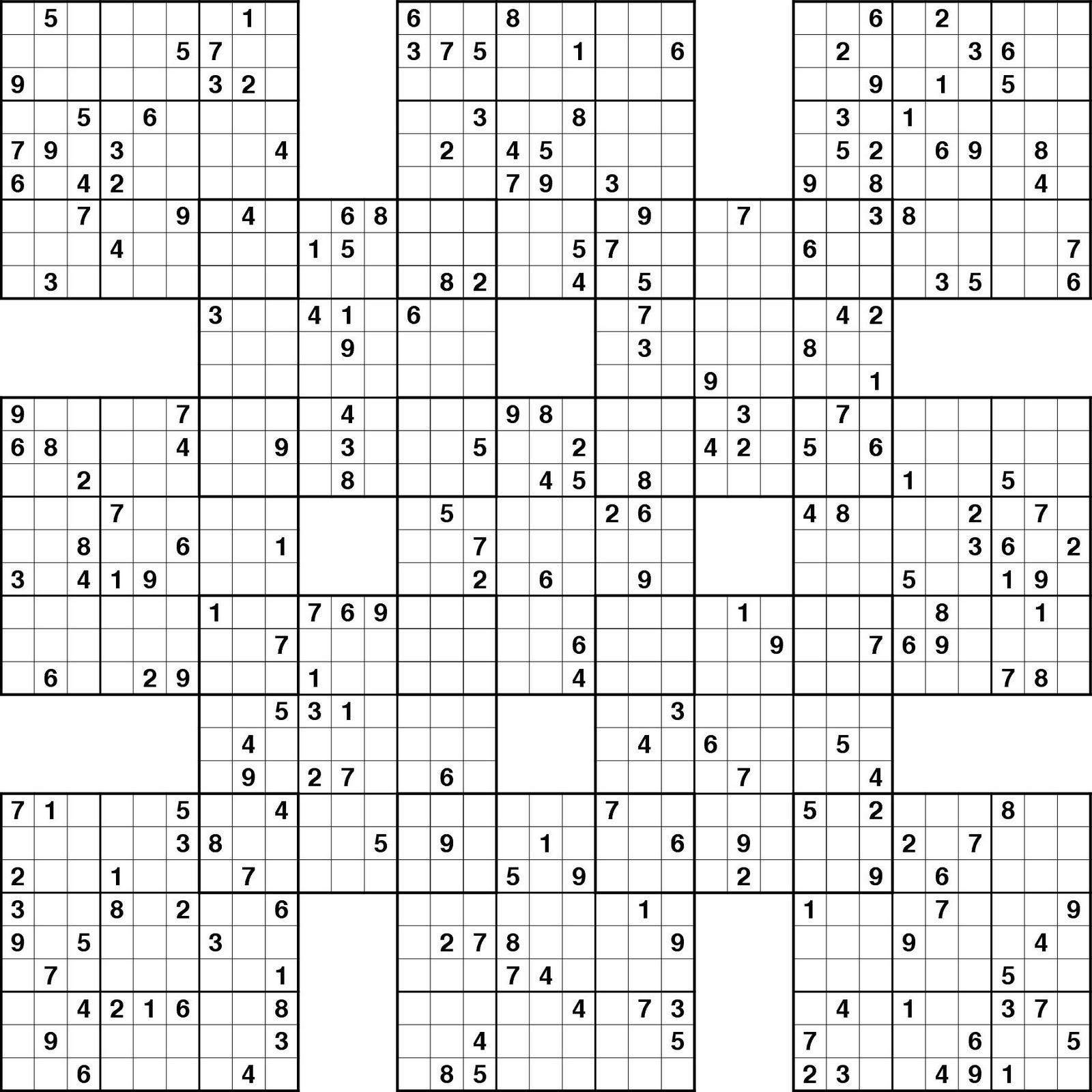 Sudoku Free Printable Image