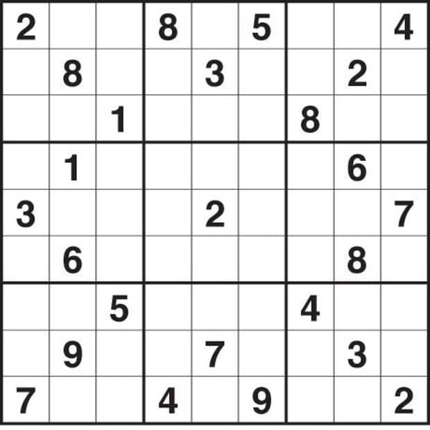 Sudoku Medium Print