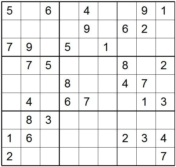 Sudoku Print Medium