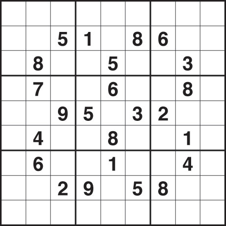 Sudoku Printable Image