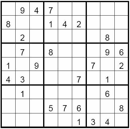Sudoku Printable Puzzle Medium