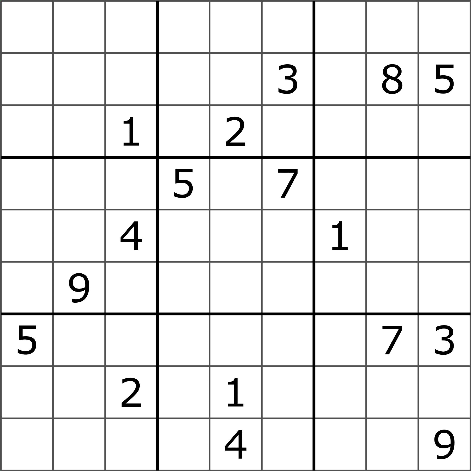 Sudoku Puzzle Images