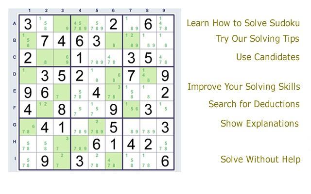 Sudoku Solver Chart