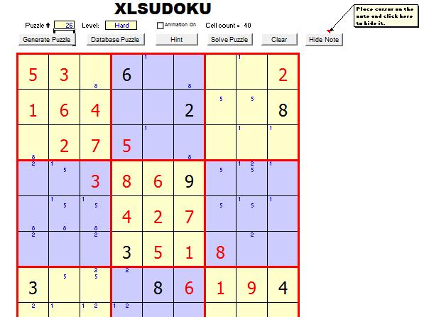 Sudoku Template Chart