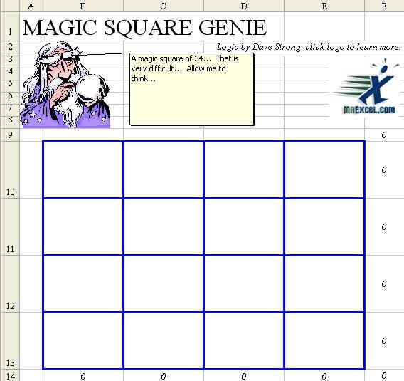 Sudoku Template Excel