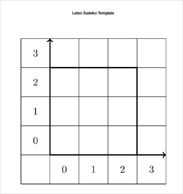 Sudoku Template Word