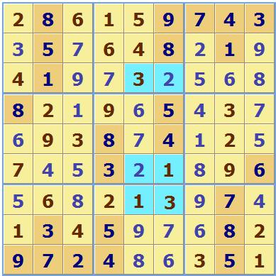 Sudoku With Answers Chart