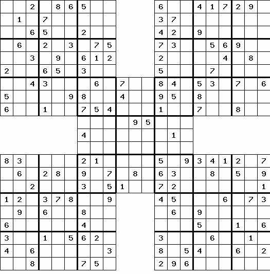 Sudoku grid Printable
