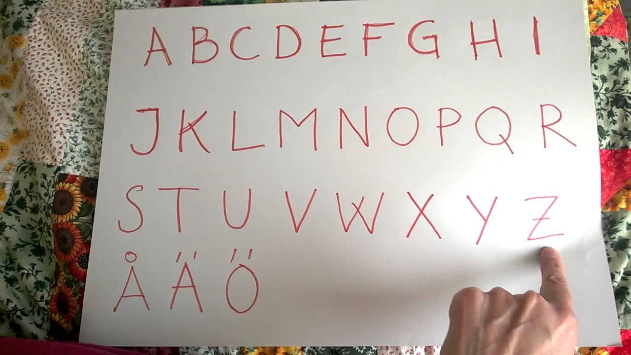 Swedish Alphabet Format