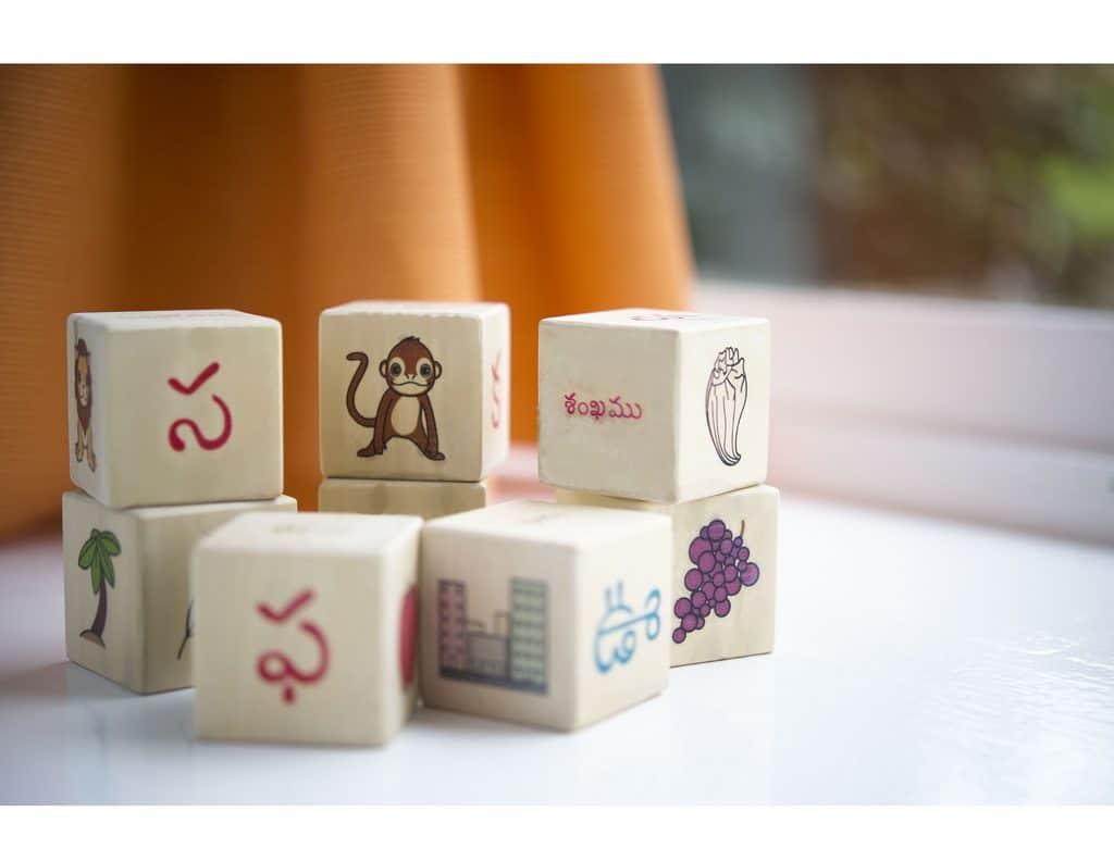 Telugu Alphabet Blocks