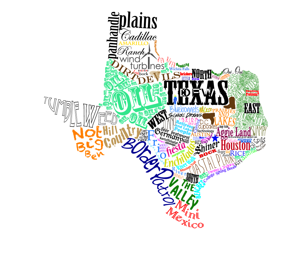 Texas Map Art