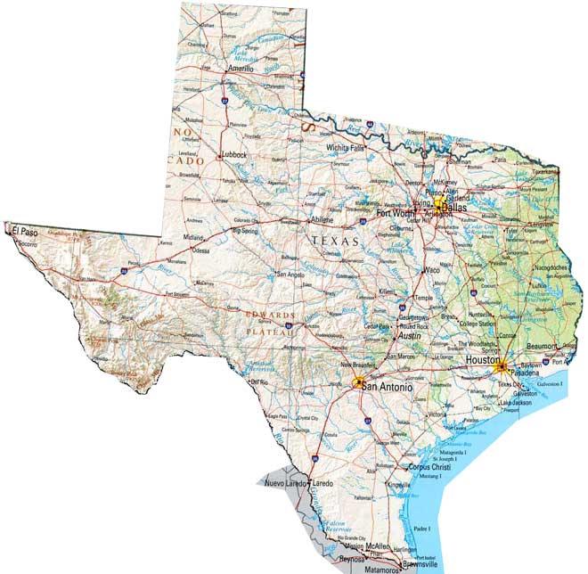 Texas Map States