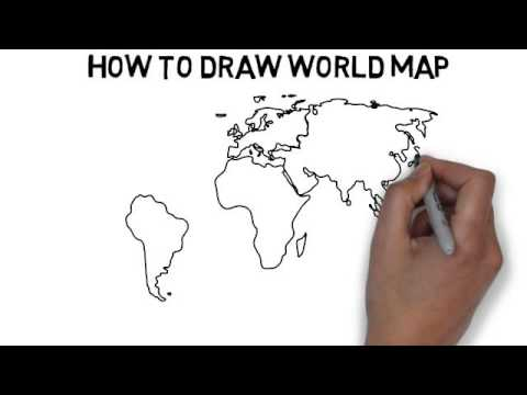 The World Map Drawing