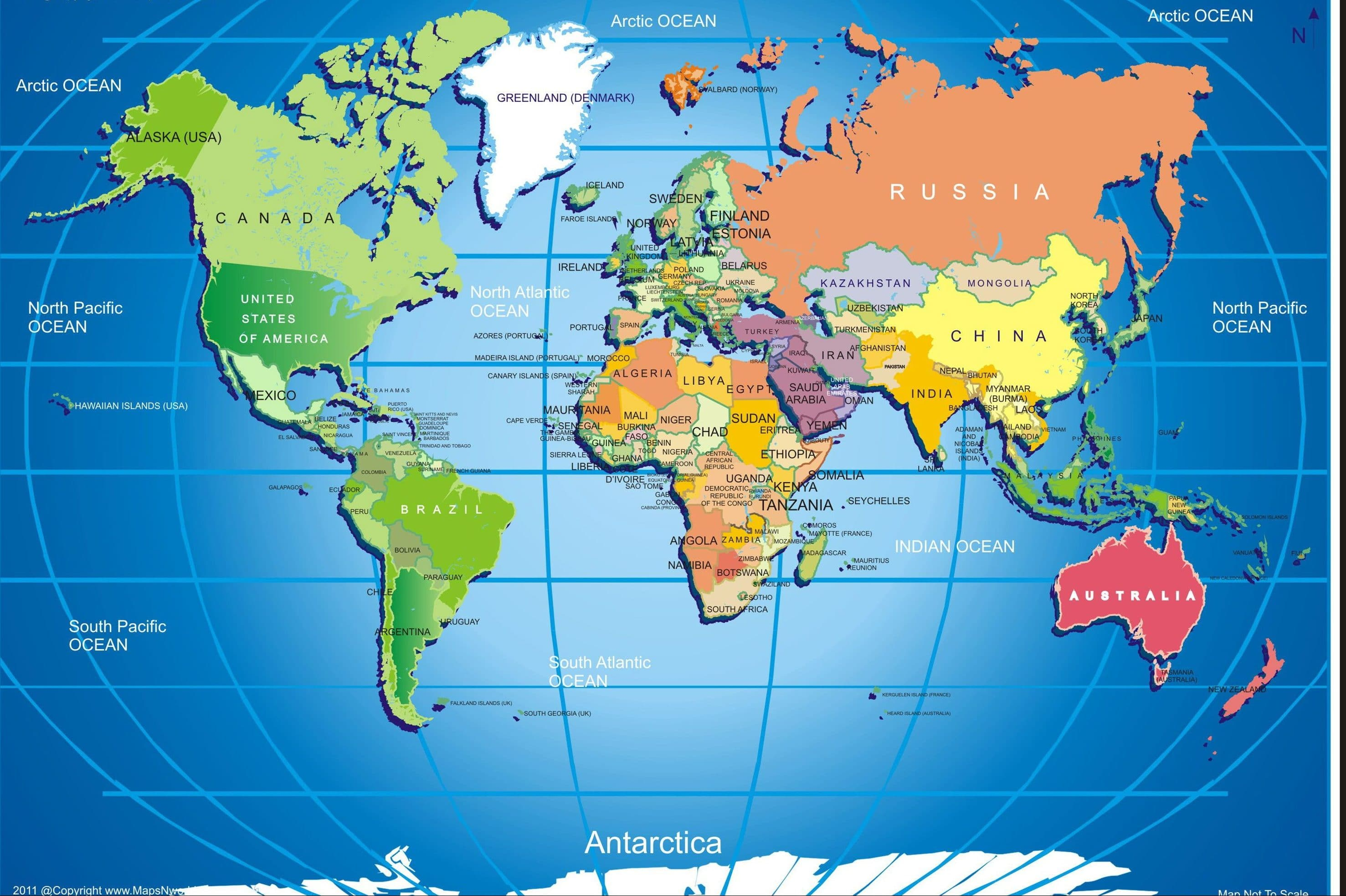 The World Map Hd