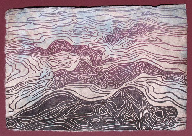 Topographic Map Art