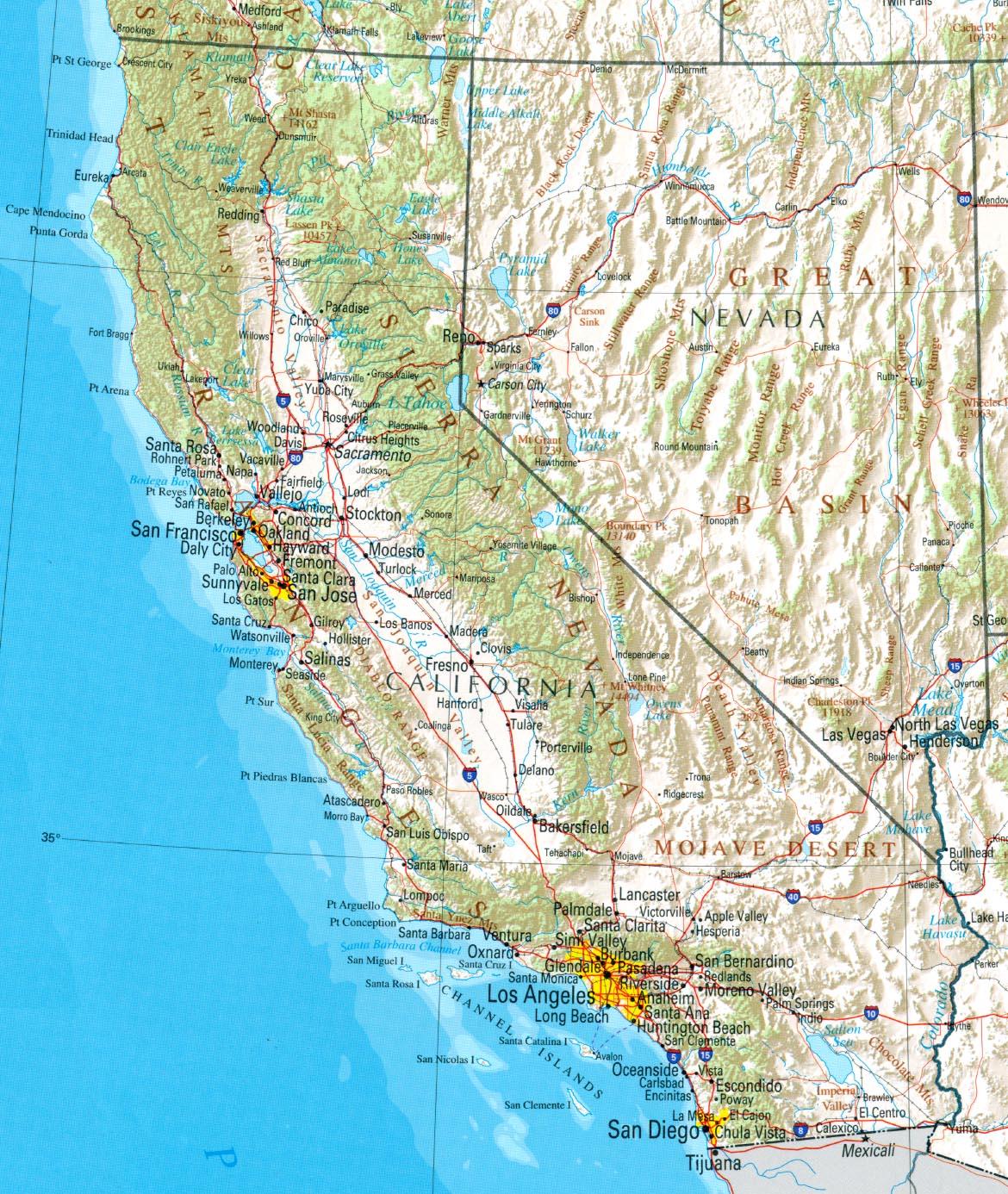 Topographic Map California