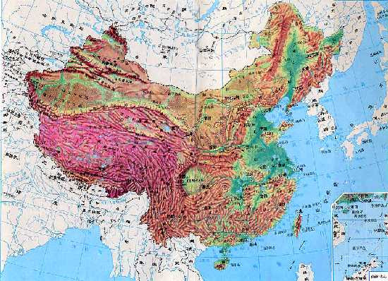Topographic Map China