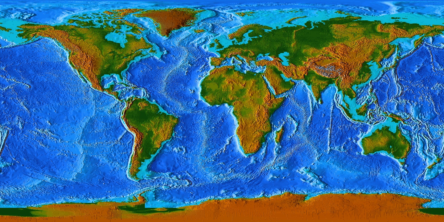 Topographic Map Earth