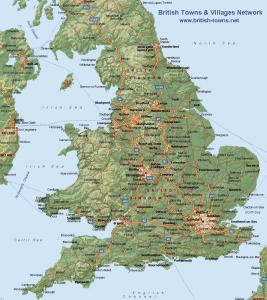 Topographic Map England