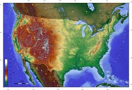 Topographic Map USA