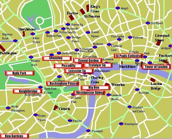 Tourist London City Map