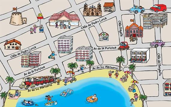 Town Map Cartoon