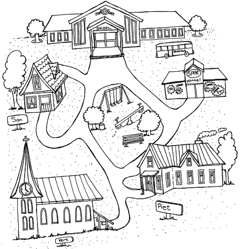 Town Map Drawing