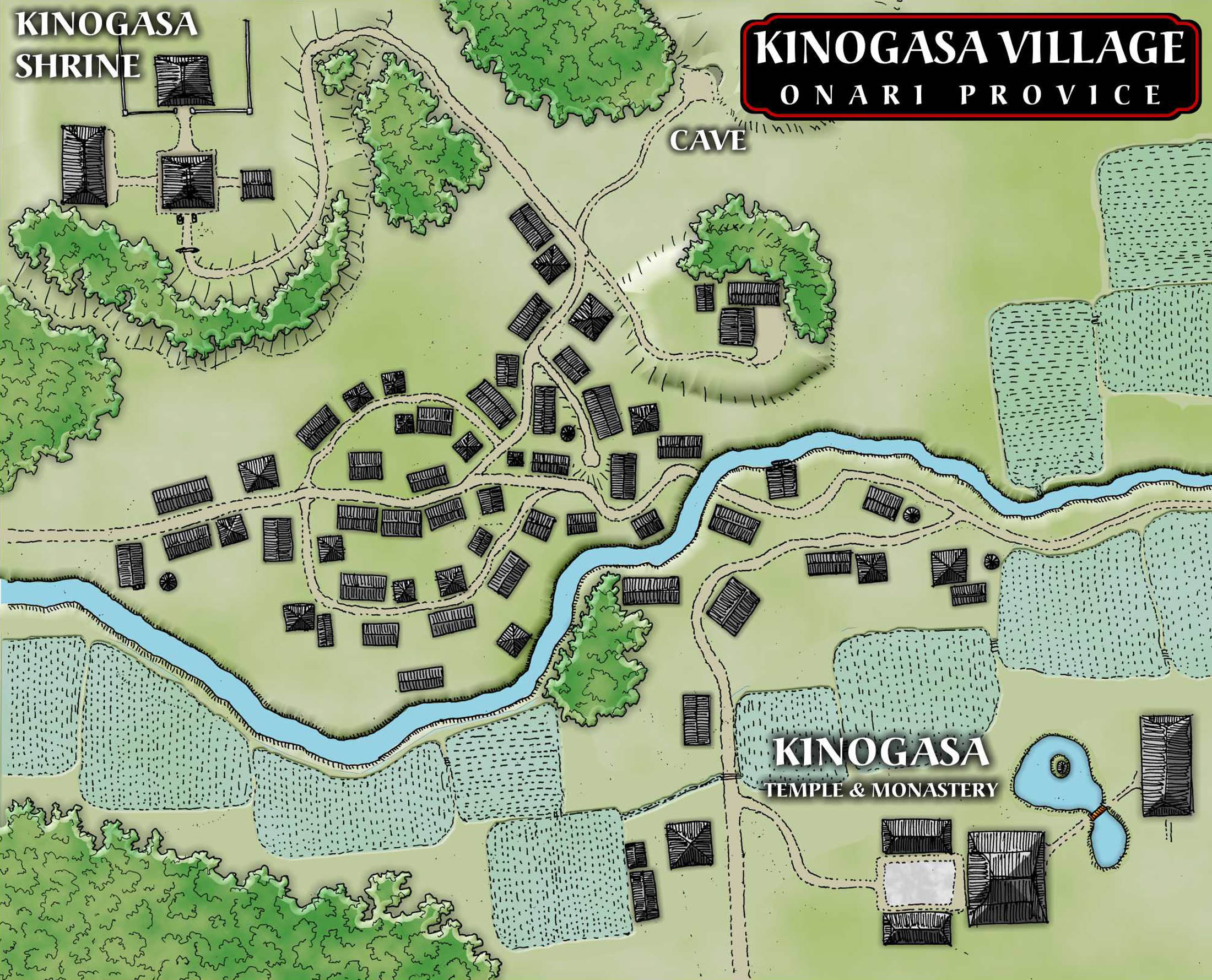 Town Map Layout