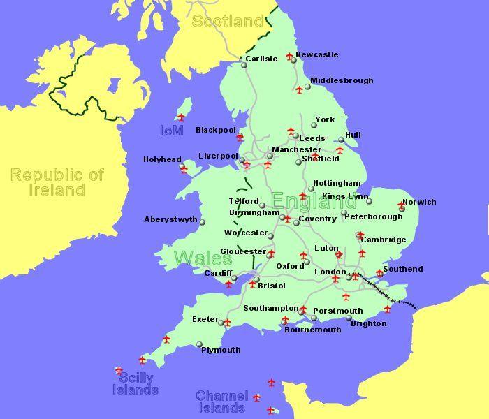 UK Map Airport
