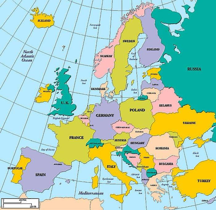 UK Map Europe