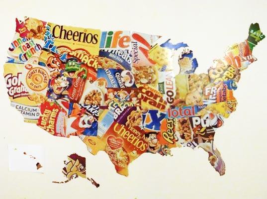 US Map Art