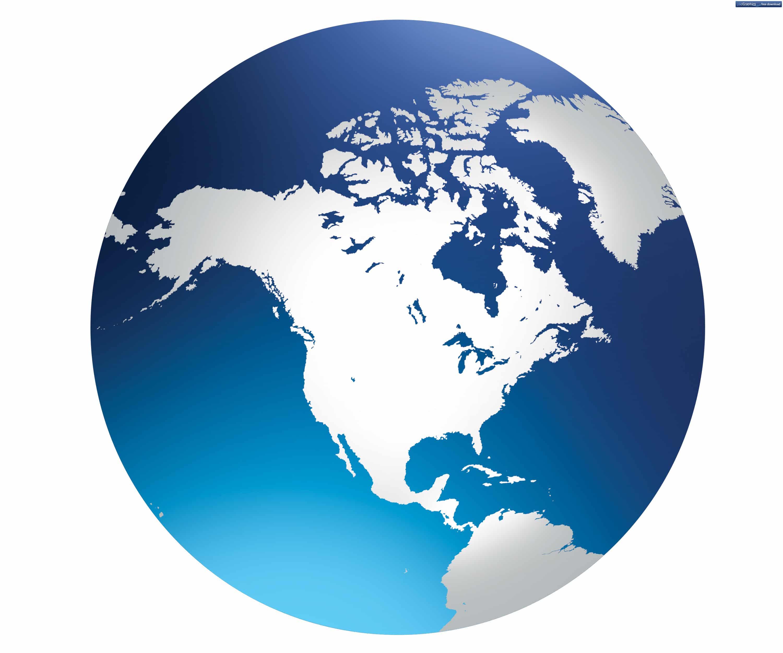 US Map Globe