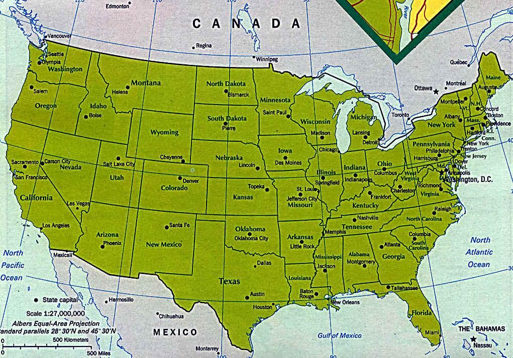 USA Big City Map