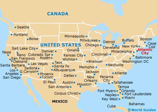 USA City Map.