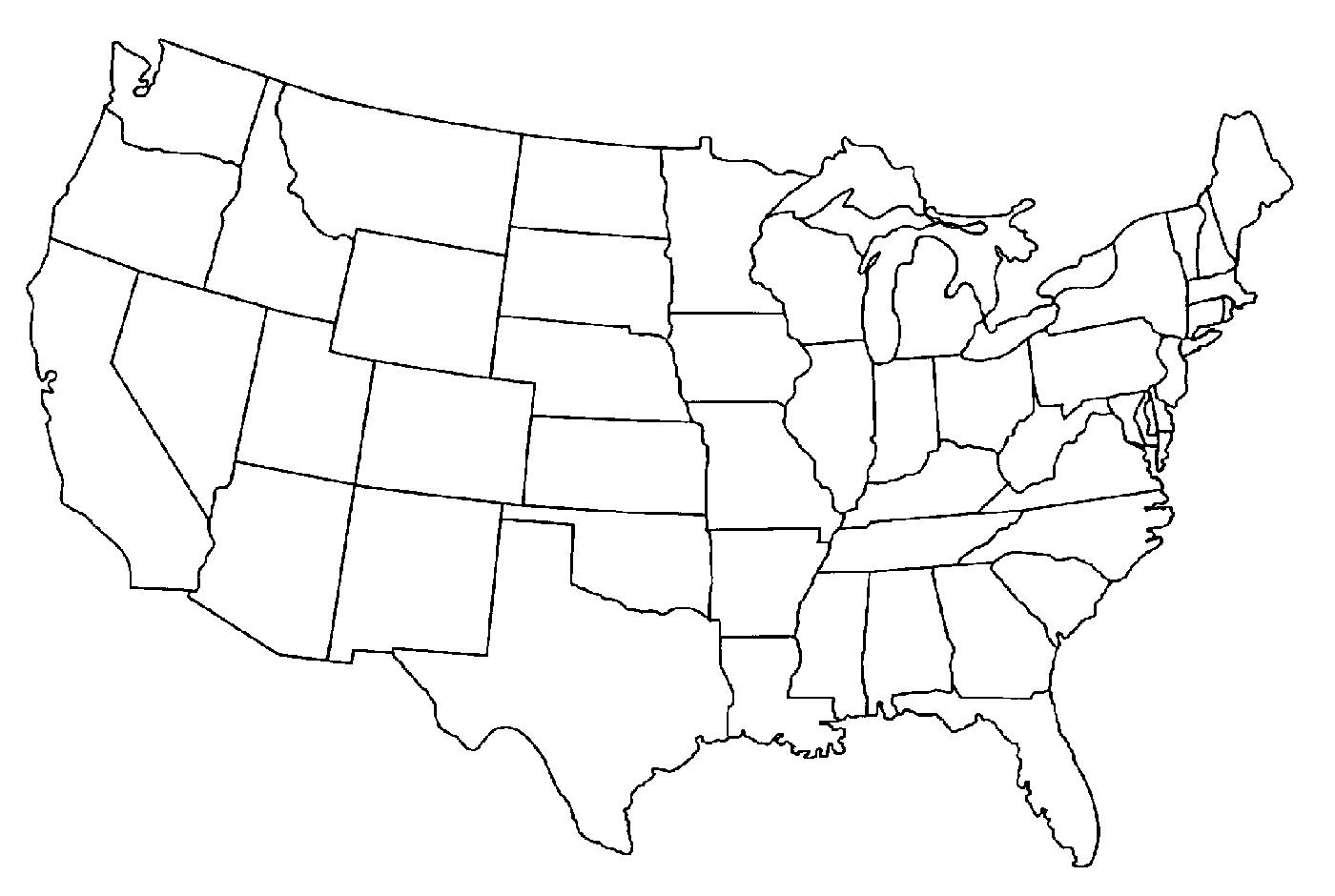 USA Map Outline