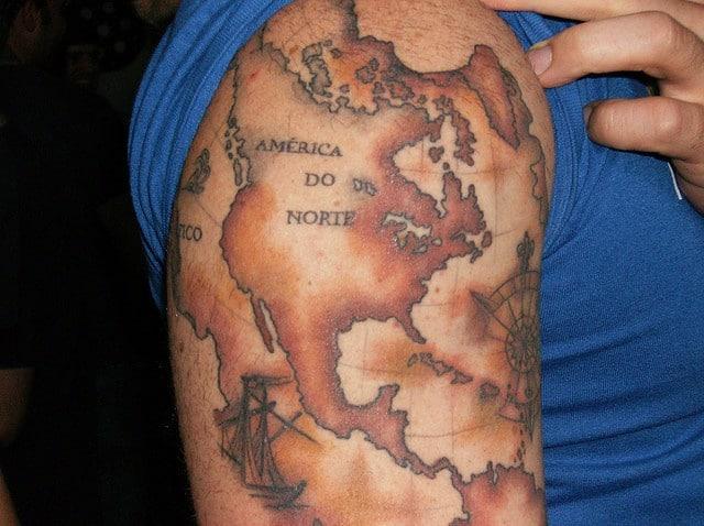 USA Map Tattoo