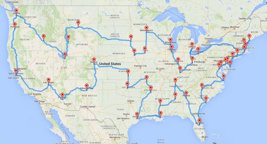 Usa Road Trip Map