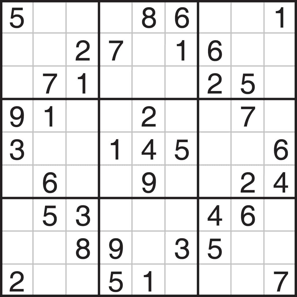 Very Easy Sudoku Puzzles